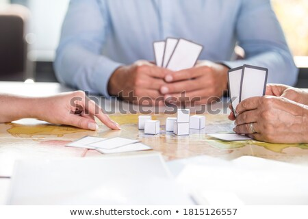 Business man with playing cards Stock photo © IS2