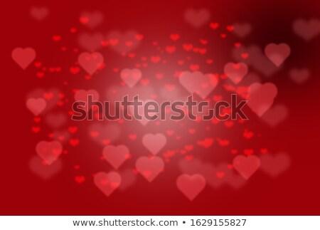 ünnep Valentin nap homályos szívek absztrakt piros Stock fotó © alexaldo