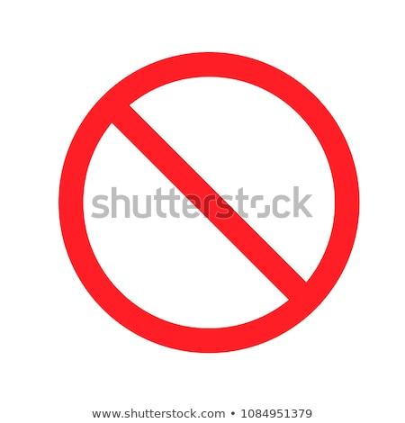 nem · belépés · felirat · téves · út · közlekedési · tábla - stock fotó © FER737NG