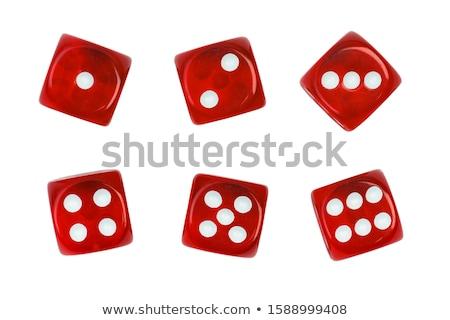 Rood · dobbelstenen · geïsoleerd · witte · 3d · illustration · casino - stockfoto © devon