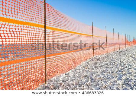 Plastic orange safety barriers Stock photo © Ashnomad