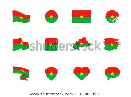 Burkina Faso flat heart flag stock photo © Amplion