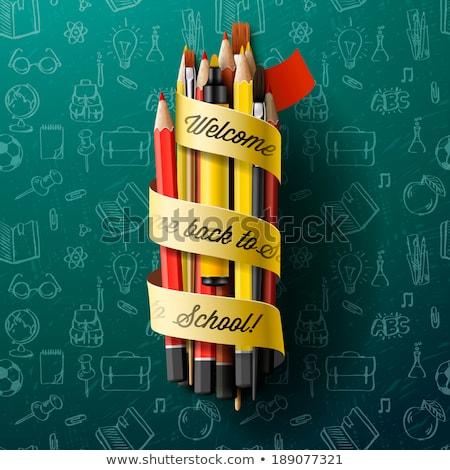 színes · ceruza · zsírkréták · illustrator · rajz · absztrakt - stock fotó © ikopylov