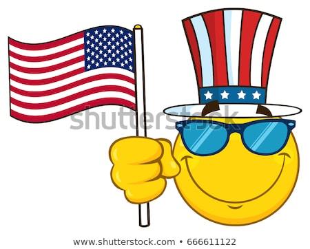 amerikai · hazafi · tart · zseblámpa · csillagok · csíkok - stock fotó © hittoon
