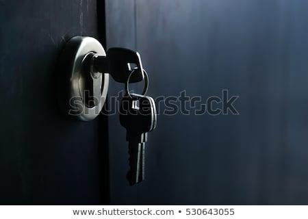 Trancar chave branco casa casa segurança Foto stock © yakovlev