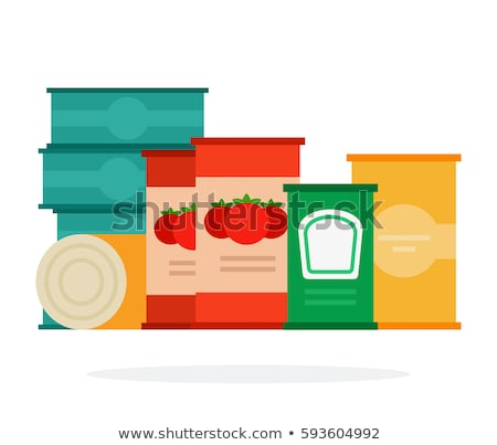 Tomato paste tin can. Canned food with tomatoes Stock photo © popaukropa
