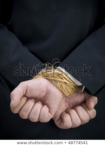 Hände zurück Seil lange Nägel Hand Stock foto © adamr