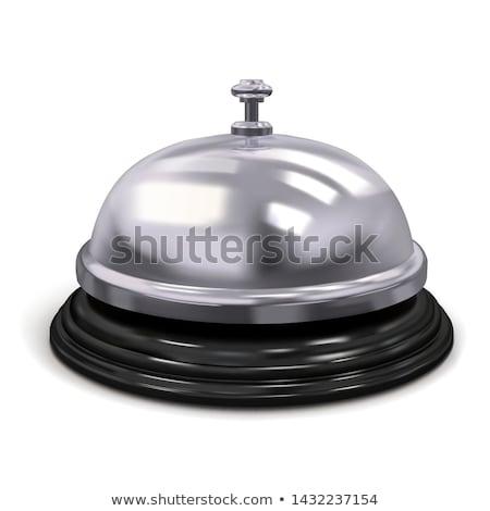Recepcji dzwon odizolowany tabeli działalności tle Zdjęcia stock © popaukropa