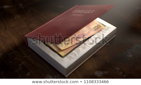 Concealed Notes In A Book Stock photo © albund