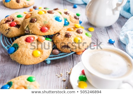 homemade cookies with colorful chocolate candies stock photo © melnyk