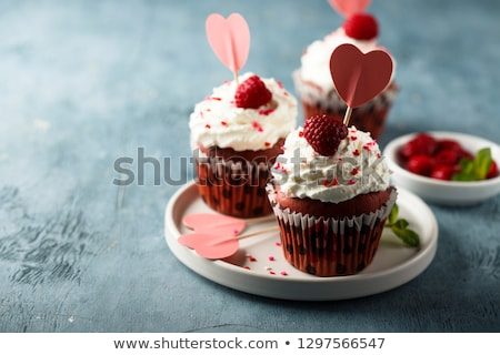 vermelho · veludo · cópia · espaço · bolo · doce - foto stock © melnyk