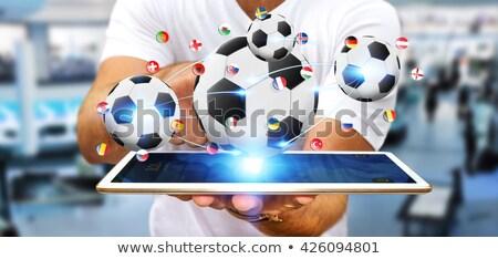 piłka · nożna · stałego · piłka · gotowy · kopać - zdjęcia stock © kzenon