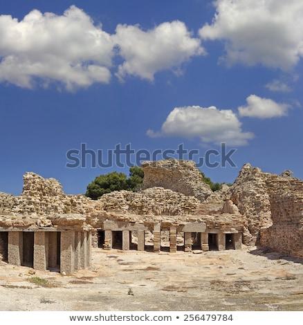Sardinian town Pula Stock photo © fyletto
