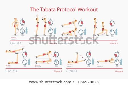 Magas térd tricepsz kotlett súlyzók nő Stock fotó © robuart