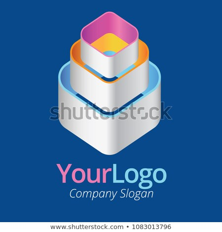 3D Logo. Three component stacking upward Stock photo © amanmana