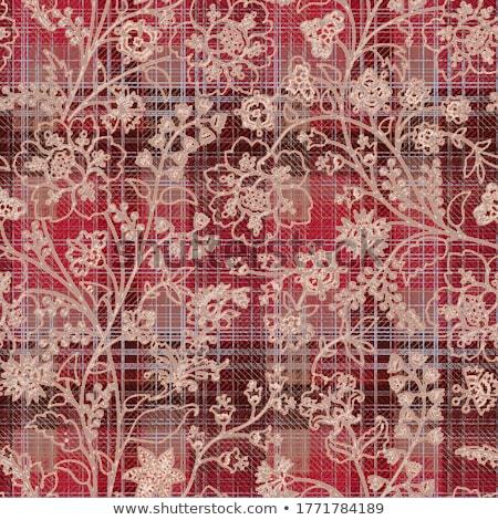 kockás · szövet · textúra · színes · ősz · kötött - stock fotó © Lana_M