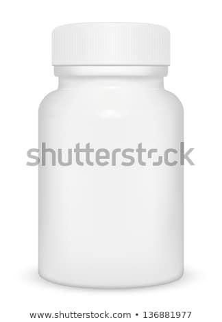 tabletta · ikon · felirat · fehér · egészség · gyógyszer - stock fotó © robuart