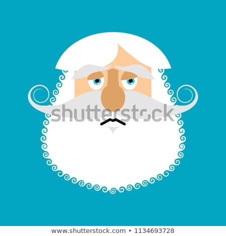 Stary smutne starszy szary broda twarz Zdjęcia stock © popaukropa