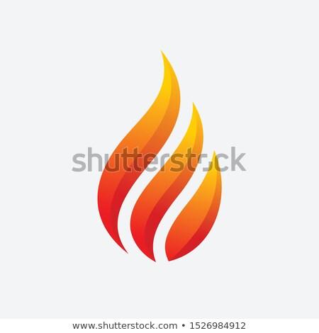 Kırmızı yangın el feneri vektör örnek Stok fotoğraf © cidepix