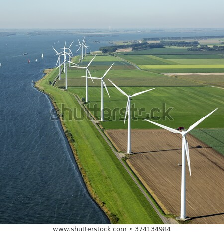 Field and wind generators Stock photo © tracer