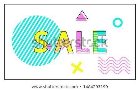 販売 ポスター 幾何学的な リニア スタイル 宣伝広告 ストックフォト © robuart