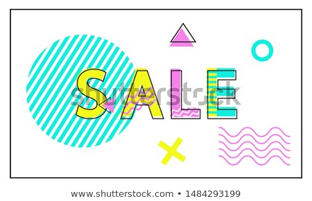 Verkauf Plakat geometrischen linear Stil promo Stock foto © robuart