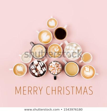 Beaucoup cappuccino art sombre Photo stock © grafvision