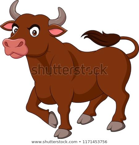 Angry Cartoon Buffalo Stock photo © cthoman