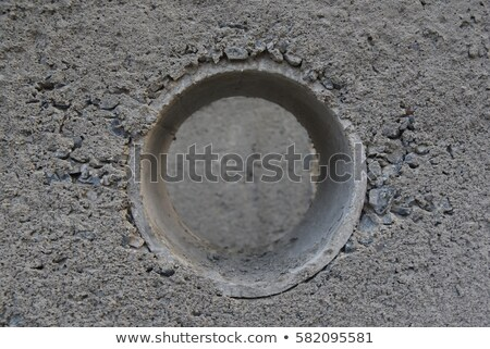 round hole in blue wall Stock photo © romvo