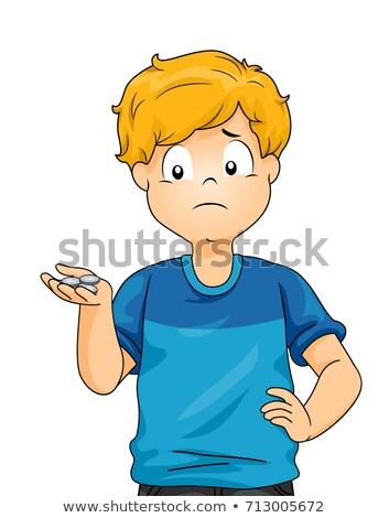 Kid Boy Low Allowance Illustration Stock photo © lenm