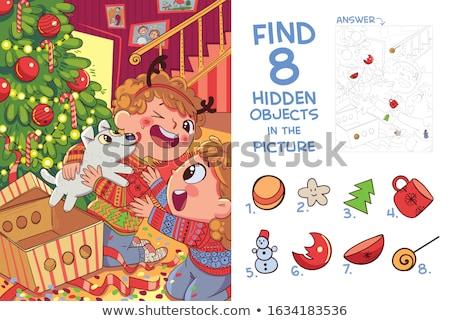 Natal pequeno caos férias decorações Foto stock © Anneleven