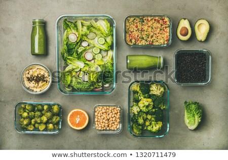 Stock fotó: Közelkép · érett · zöldségek · üveg · tál · asztal