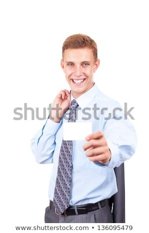 portre · işadamı · kredi · kartı · iş · adam - stok fotoğraf © minervastock