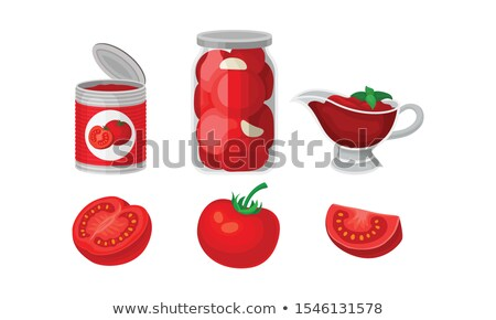Canned Tomatoes and Pickles Vector Illustration Stock photo © robuart