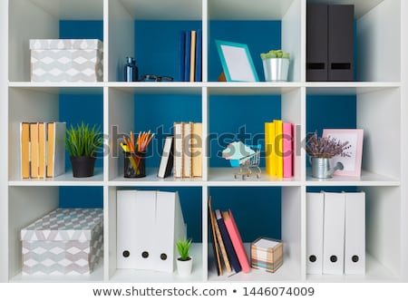 Colorful files in office shelf Stock photo © simply