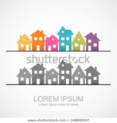 Sąsiedztwo domu ikona wektora logo symbol Zdjęcia stock © blaskorizov