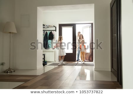Businesswoman Protecting Family Home Stock photo © AndreyPopov