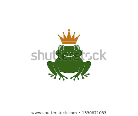 Coloring template with frog prince Stock photo © colematt