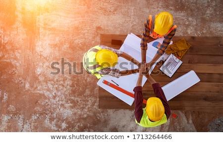 Profesyonel çalışma planı inşaat planları Stok fotoğraf © snowing