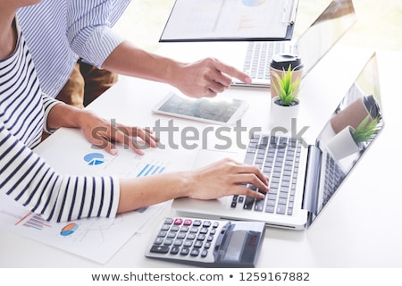 Stock photo: young students relax, preparing exams in home, colleagues workin
