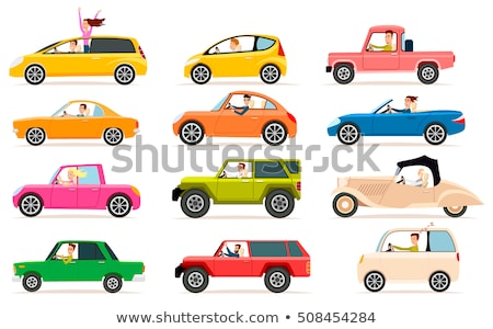 Set of different car on the road Stock photo © bluering