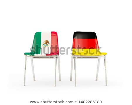 Two chairs with flags of Germany and mexico Stock photo © MikhailMishchenko