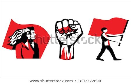 Communisme iconen eps 10 achtergrond kunst Stockfoto © netkov1