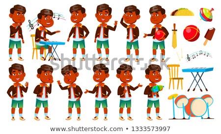 Indiano menino jardim de infância criança conjunto vetor Foto stock © pikepicture