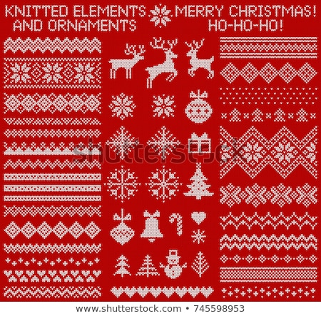 Foto stock: Lana · Navidad · ilustración · familia · compras · tienda