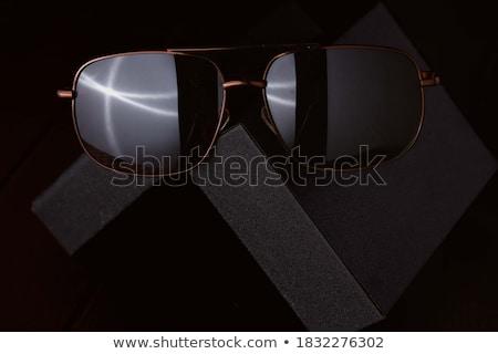 kahverengi · gözlük · uçan · gölge · bej - stok fotoğraf © filipw