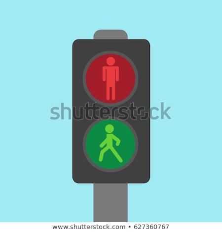 Man Pedestrian Waiting Illustration Stock photo © lenm