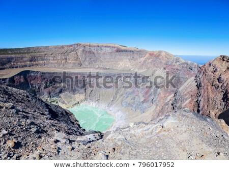 Binnenkant vulkaan El Salvador hemel natuur Stockfoto © benkrut