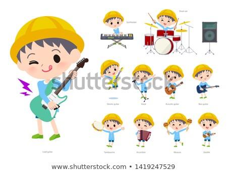 детский сад музыку набор мальчика играет рок Сток-фото © toyotoyo