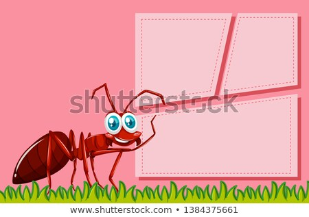Piros hangya keret jelenet illusztráció művészet Stock fotó © bluering